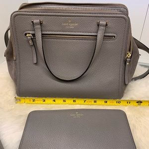 Kate Spade gray 3 sectioned bag